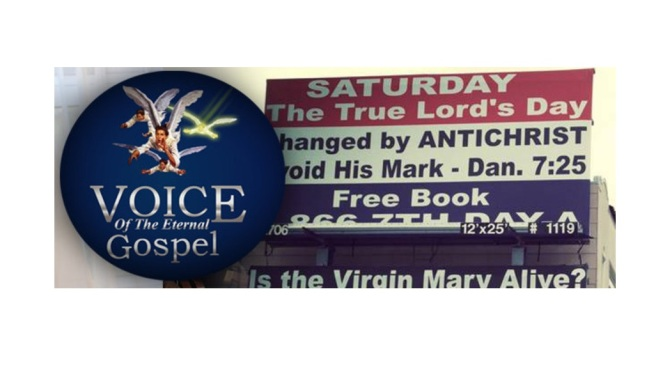 The Eternal Gospel Church: Sabbath-Keeping Pastor Publishes Controversial Newspaper Ads